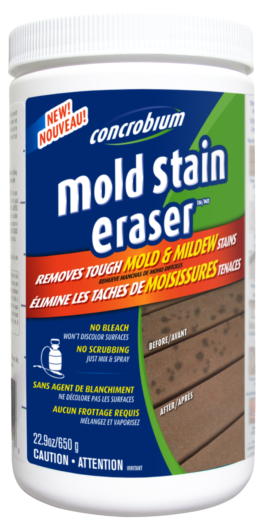 Concrobium Mold Stain Eraser Remove Black Stains With